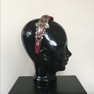Custom Velvet, Jewel, and Rhinestone Headband